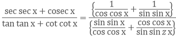 Trigonometric ratios and identities