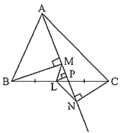 BM and CN are perpendiculars to a line passing through the vertex A of triangle ABC