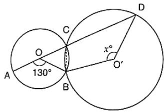 O and O' are centers of two circles intersecting at B and C