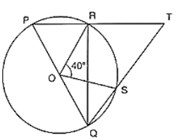 O is the centre of a circle and PQ is a diameter.