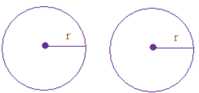 Two circles are congruent if their radii are same.