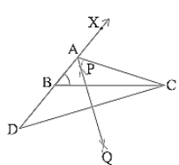 required triangle ∆ABC