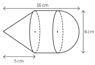 Cone, Cylinder and hemisphere