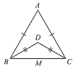 ΔABC and ΔDBC are isosceles triangles