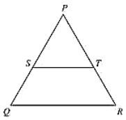 PQR is a triangle