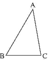 ΔABC, ∠A = 40° and ∠B = 60°