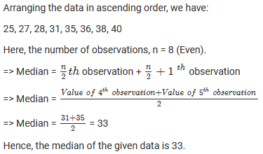 Chapter 23 Data Handling II (Central Values) Exercise – 23.3 Question: 3