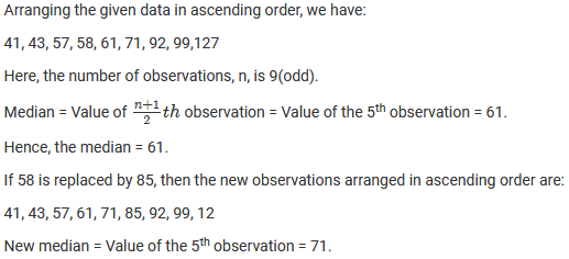 Chapter 23 Data Handling II (Central Values) Exercise – 23.3 Question: 11