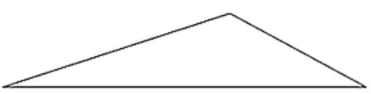 An obtuse triangle