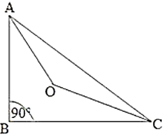 The bisectors of the acute angles of a right triangle meet at O