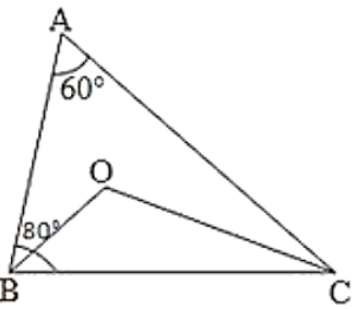 ∆ABC, ∠A = 60°, ∠B = 80°, and the bisectors of ∠B and ∠C