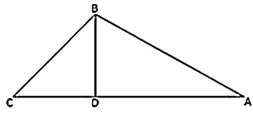 ∆ABC, ∠ABC = 100°, ∠BAC = 35° and BD perpendicular to AC