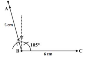 Angle B 105°