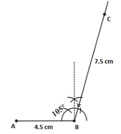 Angle 105°