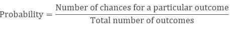 Formula of Probability
