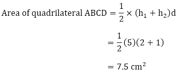 Area of quadrilateral ABCD
