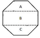 Octagon into three parts