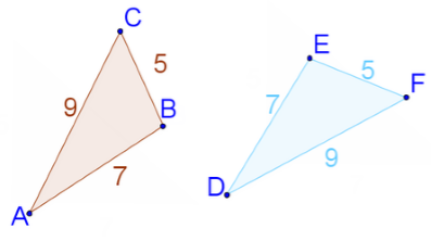 Triangles, ∆ABC and ∆DEF