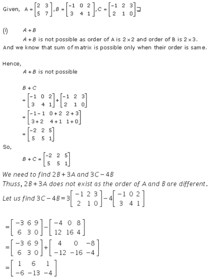 Algebra of Matrices Ex 5.2 Q3