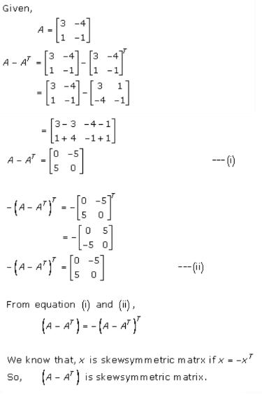 Algebra of Matrices Ex 5.5 Q2