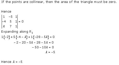 Determinants Ex 6.3 Q5