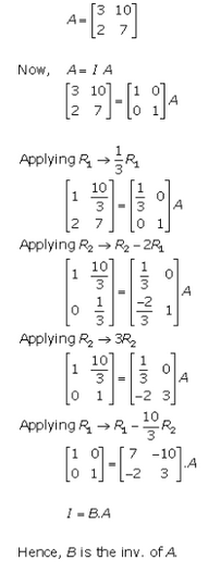 Adjoint and Inverse of a Matrix Ex 7.2 Q5