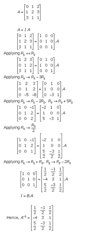Adjoint and Inverse of a Matrix Ex 7.2 Q6