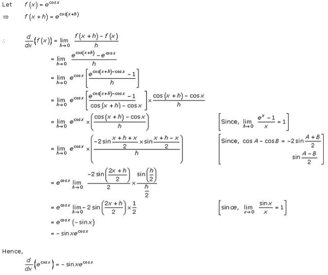 Differentiation Ex 11.1 Q4