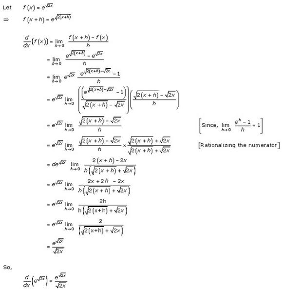Differentiation Ex 11.1 Q5