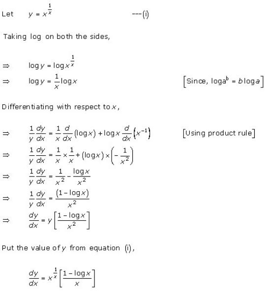 Differentiation Ex 11.5 Q1