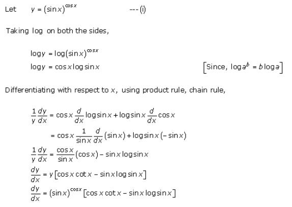 Differentiation Ex 11.5 Q7