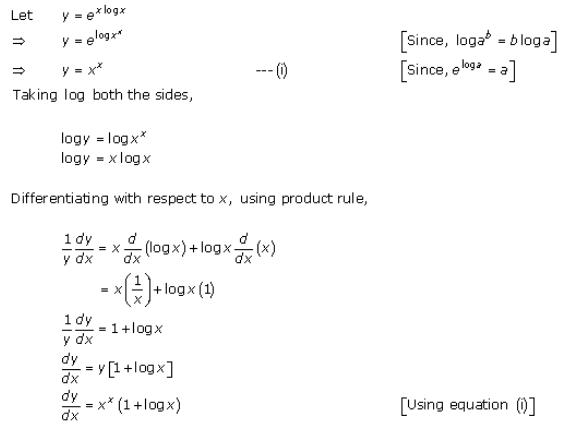 Differentiation Ex 11.5 Q8