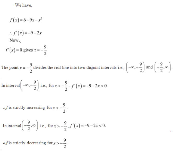 Increasing and Decreasing Functions Exercise 17.2.Q.1(iii)