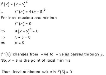 Maxima and Minima Exercise 18.2.Q.1