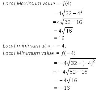 Maxima and Minima Exercise 18.3.Q.1(ix)