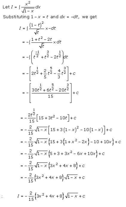 Indefinite Integrals – Exercise 19.10 – Q.7