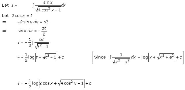 Indefinite Integrals – Exercise 19.13 – Q.5
