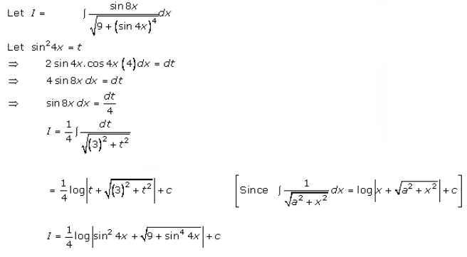 Indefinite Integrals – Exercise 19.13 – Q.8