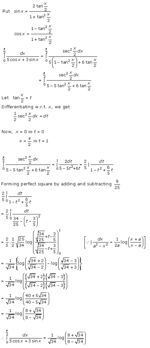 Definite Integrals – Exercise 20.2 – Q.4