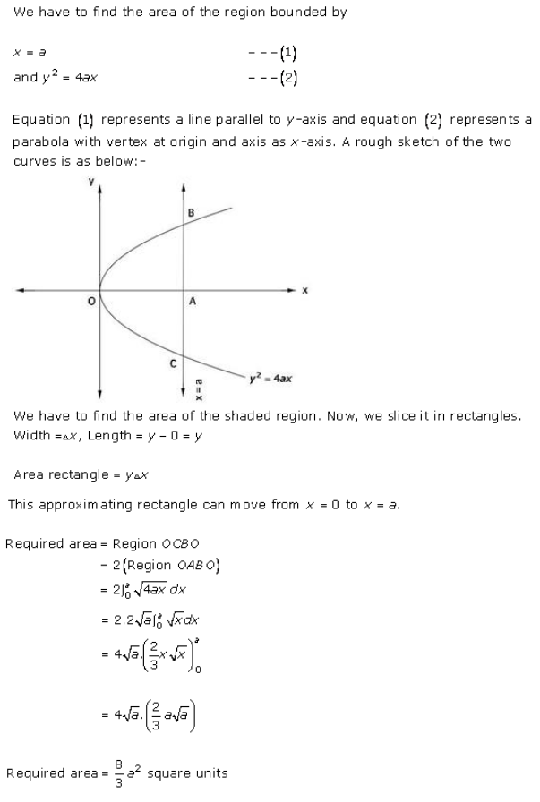 Area Bounded Regions – Exercise 21.1 – Q.3