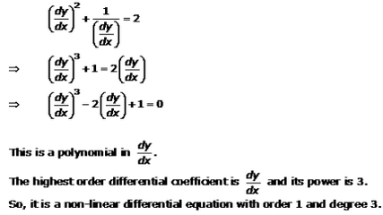 Differential Equations – Exercise 22.1 – Q.3