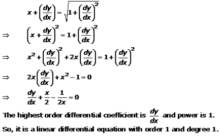 Differential Equations – Exercise 22.1 – Q.8