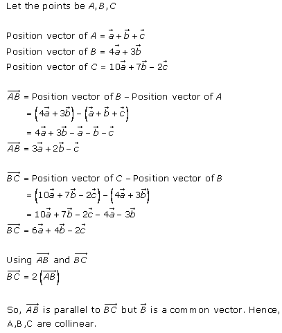 Algebra of Vectors – Exercise 23.7 – Q.2(ii)
