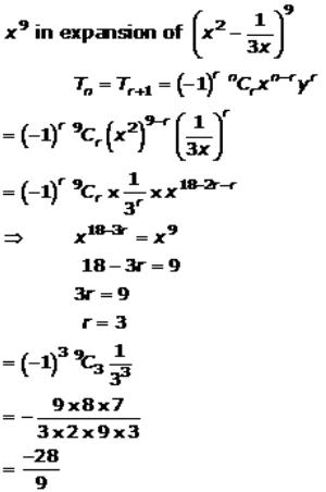 Binomial Theorem – Exercise – 18.2 – Q.9(iv)