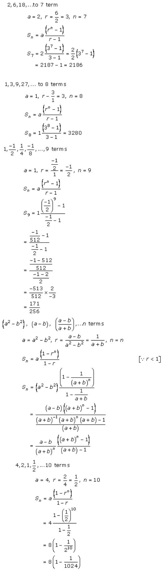 Geometric Progressions – Exercise – 20.3 – Q.1