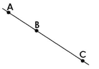 Lines passing through any three collinear points