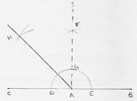 An angle of measure 135