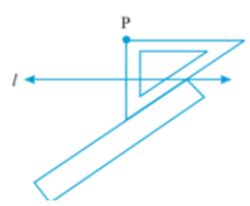 set-square until it touches the point P