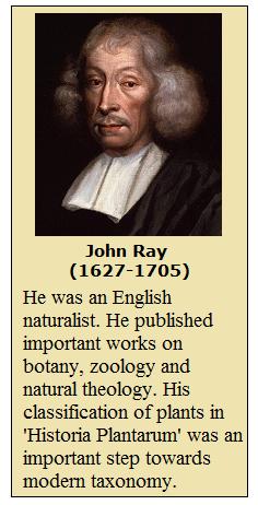 John Ray - Modern Taxonomy