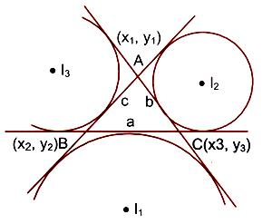 I1, I2 and I3 are the centres of the ex-circles opposite to the vertices A, B and C